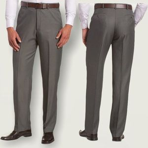 Haggar Men's Dress Pant 40x30 Grey